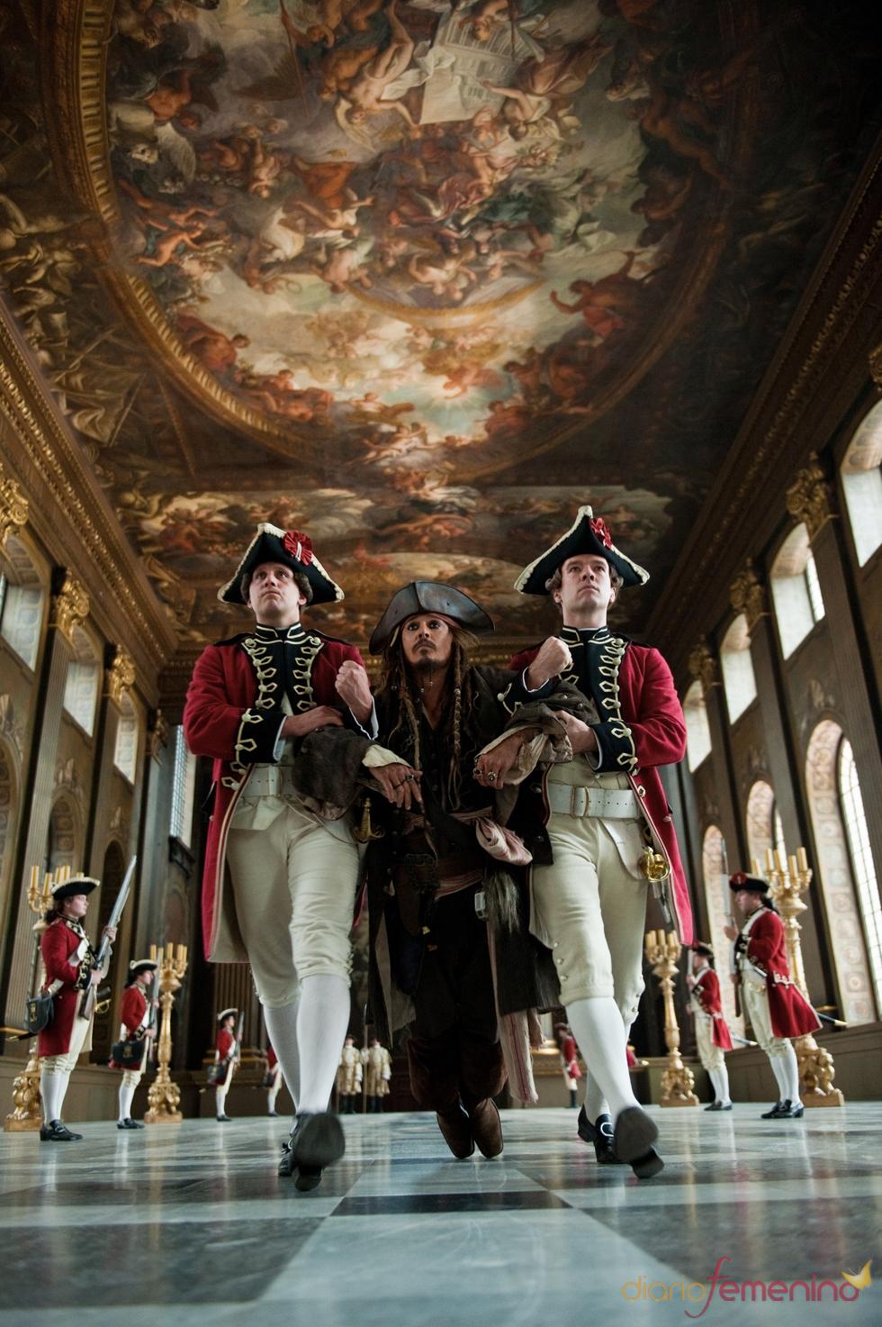 Johnny Depp es el capitán Sparrow en 'Piratas del Caribe 4'