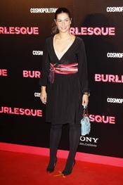 Nuria Roca en la premiere de 'Burlesque' en Madrid