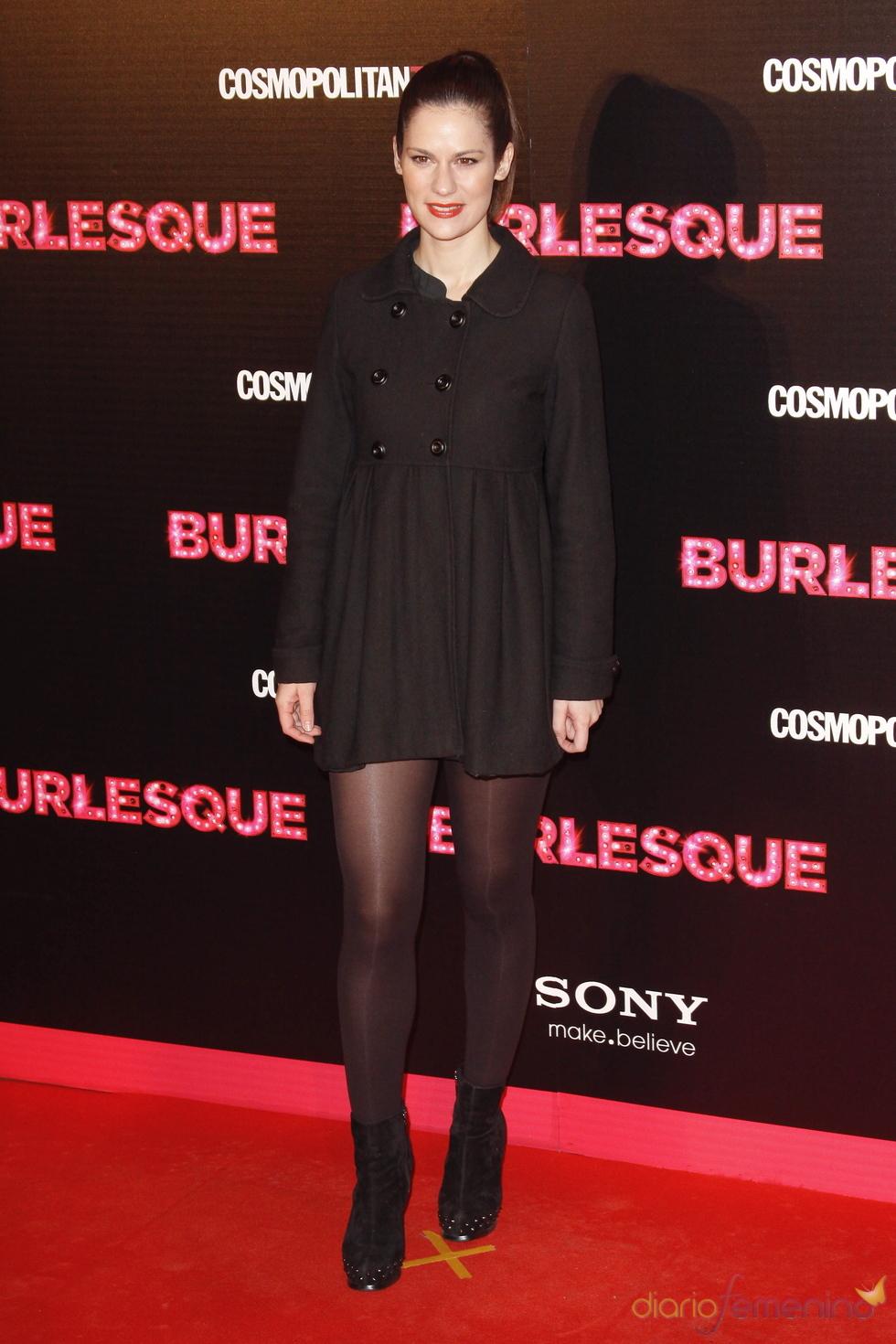 Lidia San José fue a la presentación en Madrid de 'Burlesque'