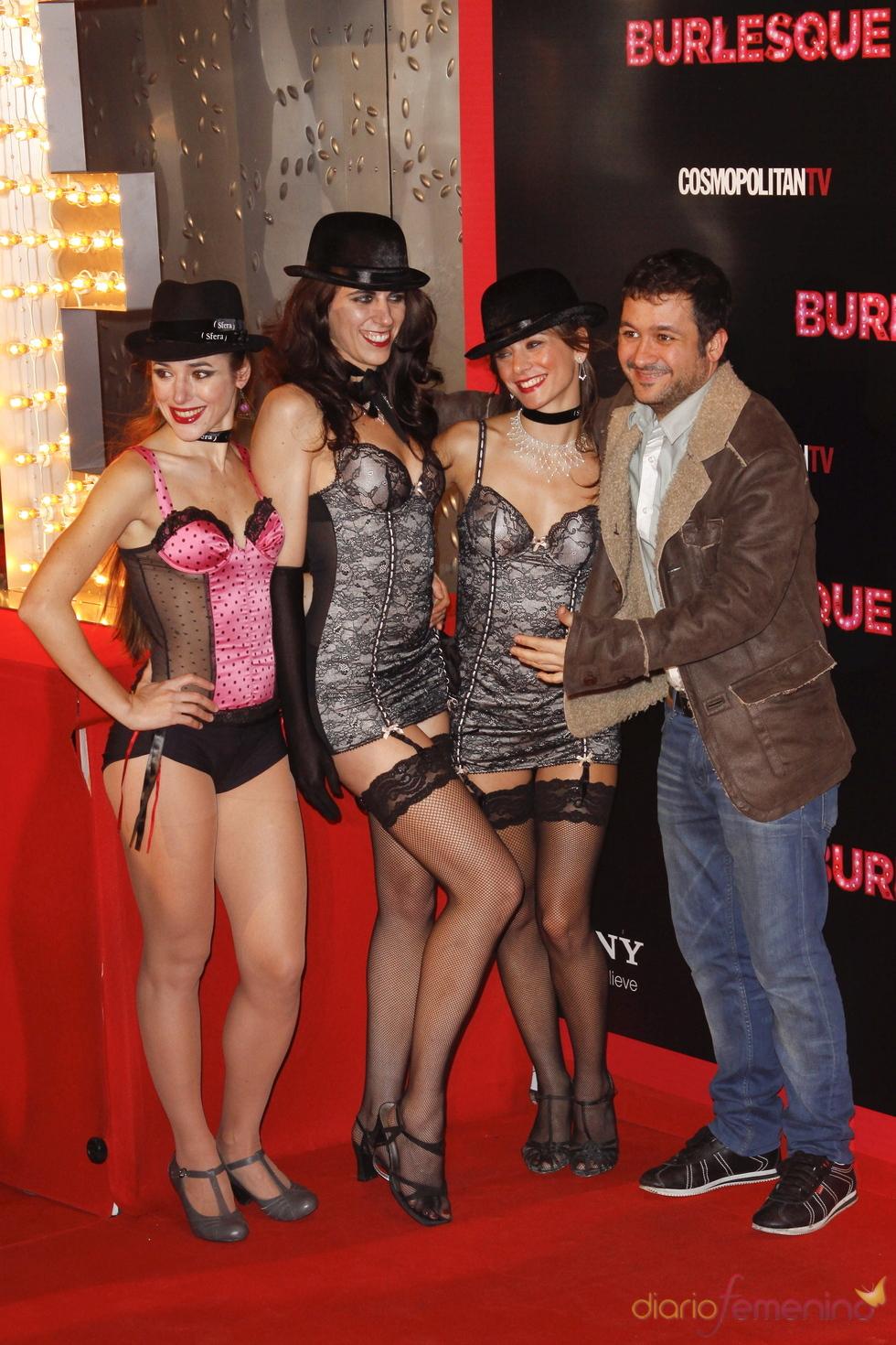 Secun de la Rosa en la premiere de 'Burlesque'