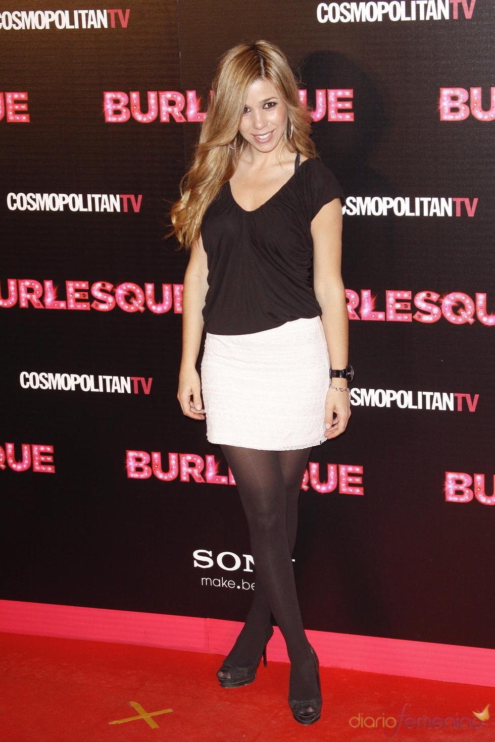 Natalia no quiso faltar a la presentación de 'Burlesque' en Madrid