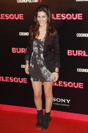 Sandra Blazquez fue a la premiere en Madrid de 'Burlesque'