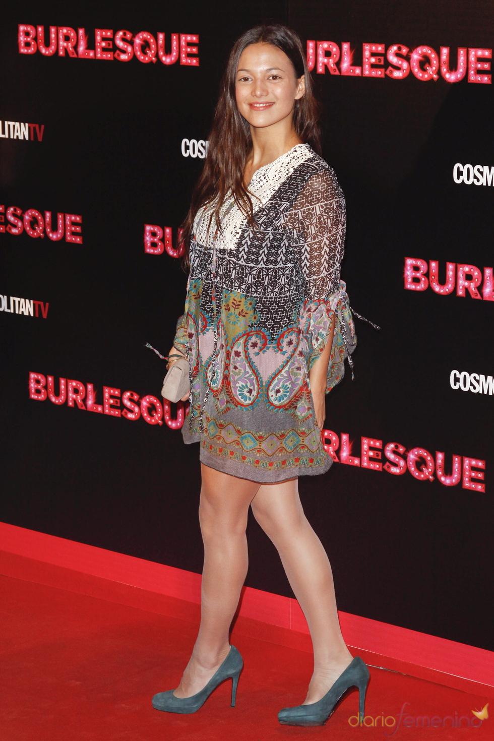 Elisa Mouliaa en la presentación de 'Burlesque' en Madrid