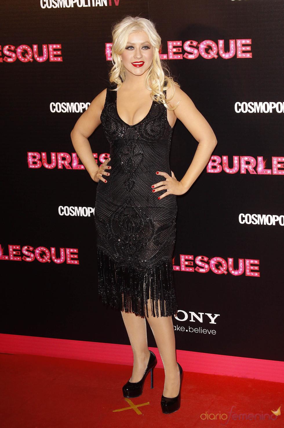 Christina Aguilera espectacular en la presentación de 'Burlesque' en Madrid