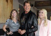 David Hasselhoff y sus hijas, Taylor Ann y Hayley