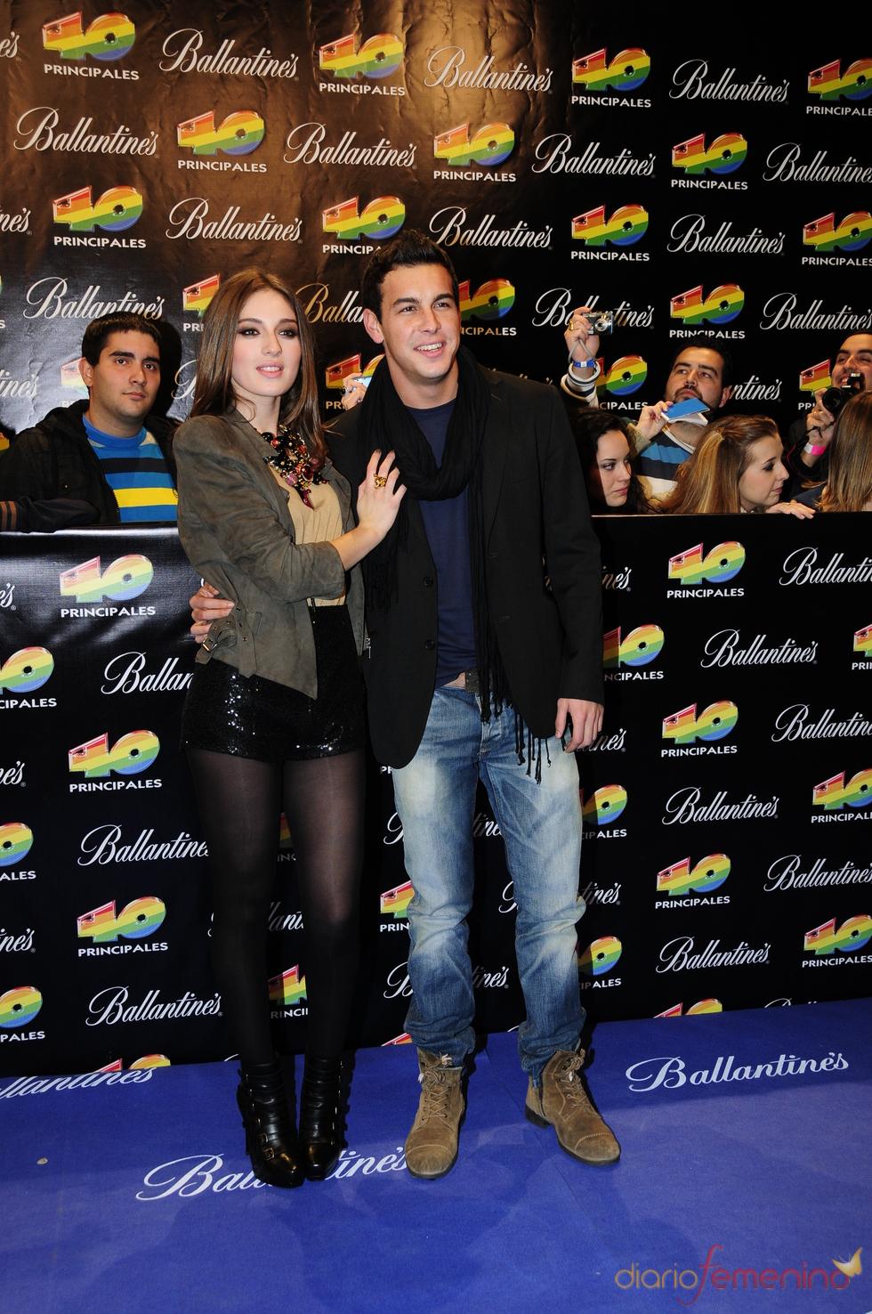 Mario Casas y María Valverde en los Premios 40 Principales 2010