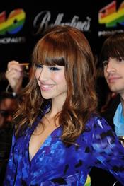 Úrsula Corberó en los Premios 40 Principales 2010