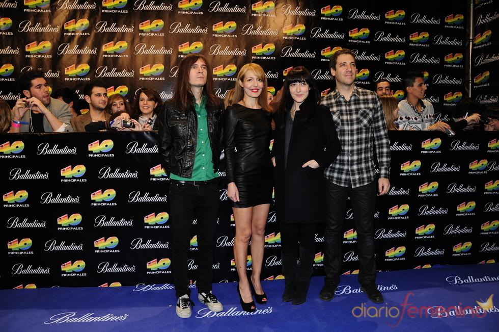 Dover en los Premios 40 Principales 2010
