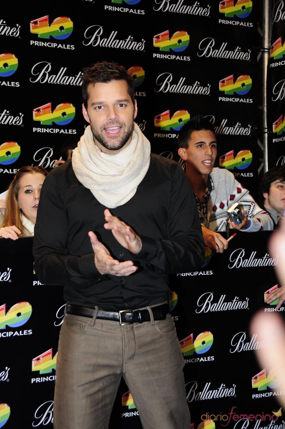 Ricky Martin en los Premios 40 Principales 2010