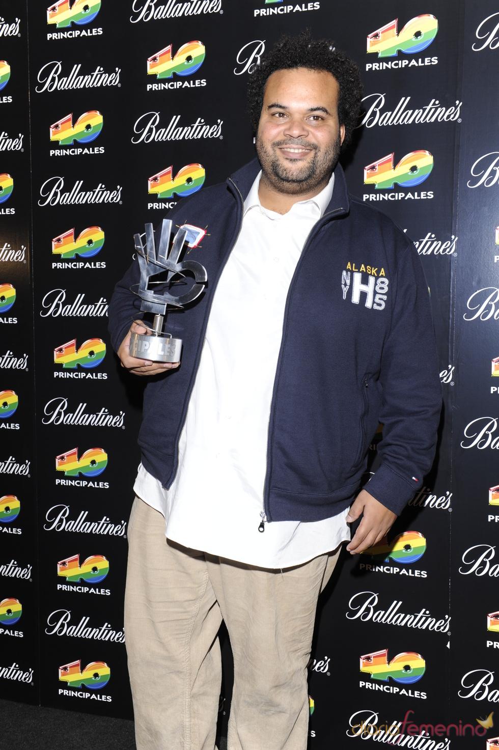 Carlos Jean en los Premios 40 Principales 2010