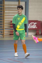 Miguel Abellán durante el partido de fútbol-sala benéfico