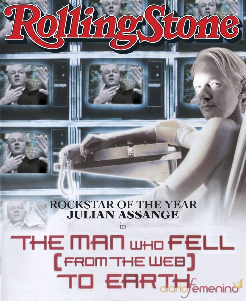 Julian Assange en la portada de Rolling Stone