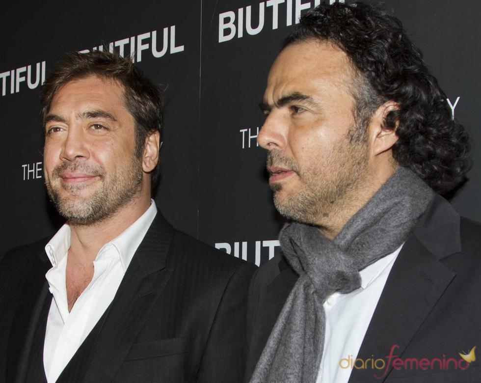 Javier Bardem y Alejandro González Iñárritu en la presentación de 'Biutiful'