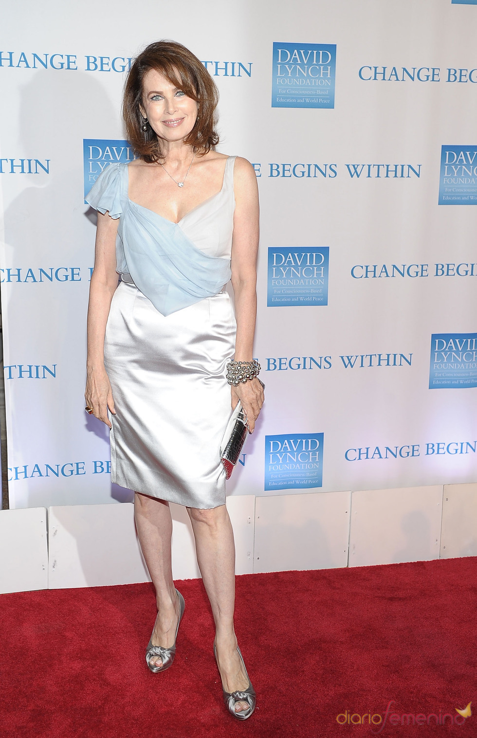 Dayle Haddon en la gala benéfica 2010 de David Lynch
