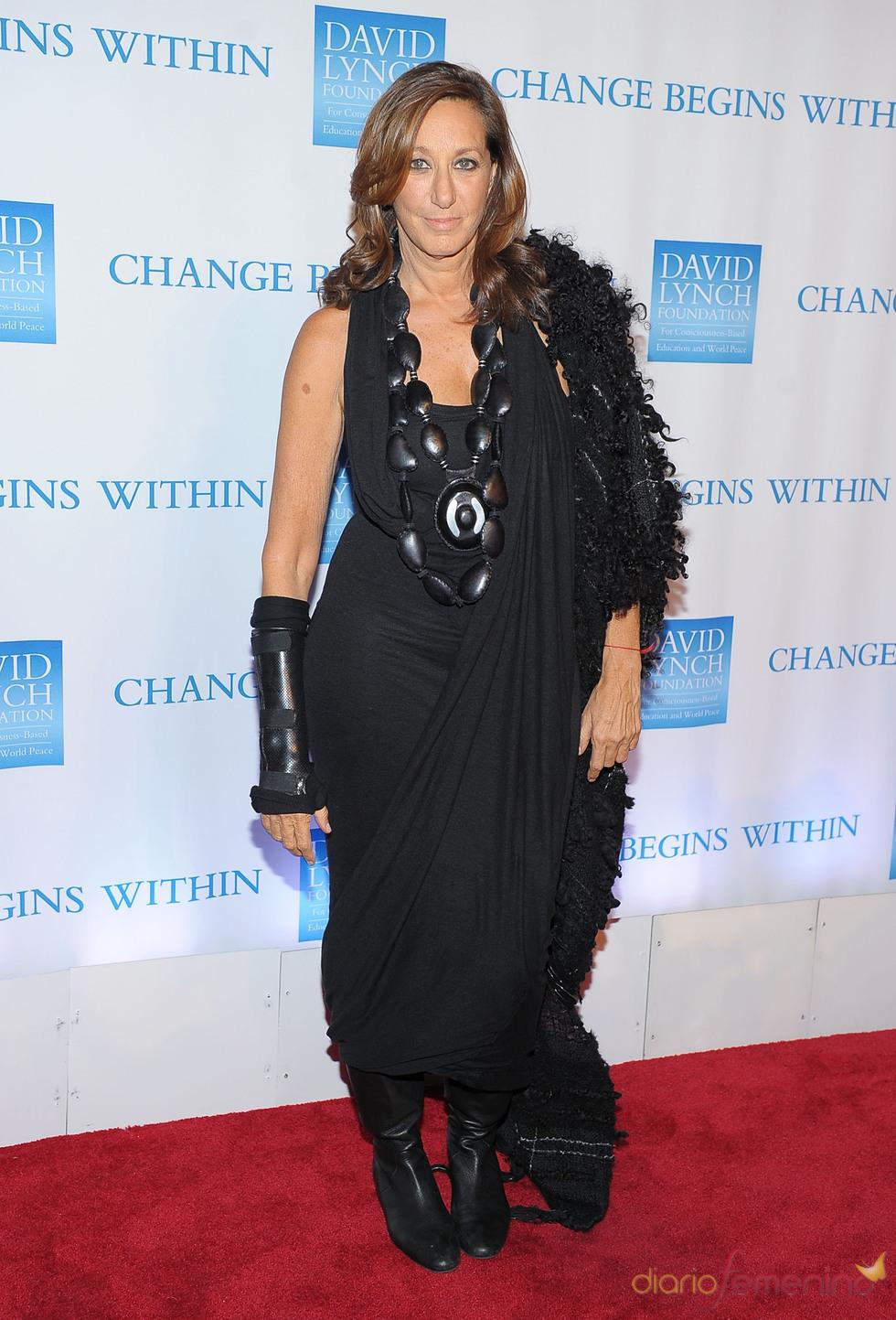 Donna Karan en la gala benéfica 2010 de David Lynch