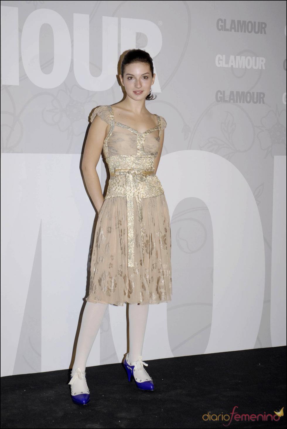 María Valverde en los premios Top Glamour en el 2006