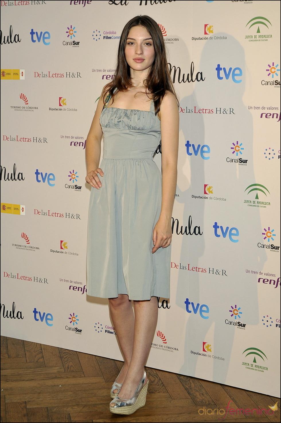 María Valverde en la prentación de la película 'La Mula'