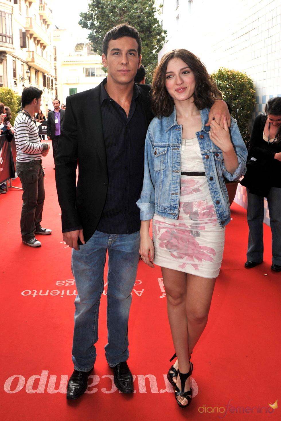 María Valverde con Mario Casas en el Festival de Cine de Málaga