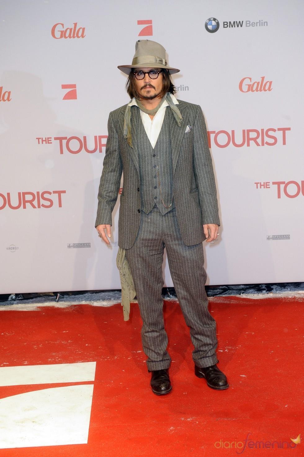 Johnny Depp en la premier de 'The Tourist'