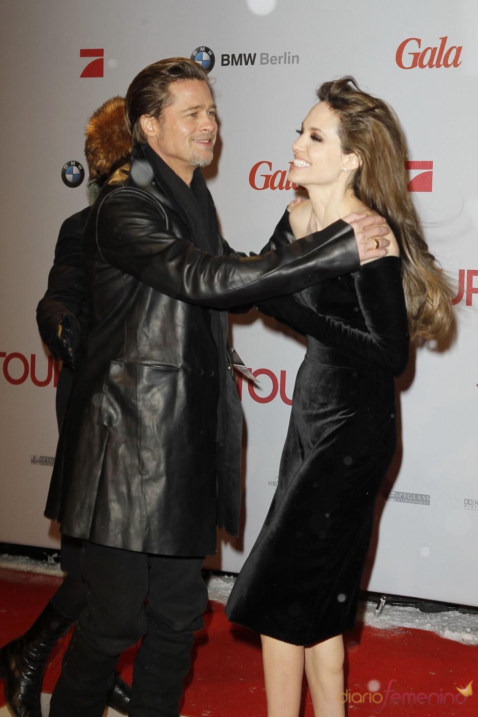 Brad y Angelina rebosan felicidad en Berlín