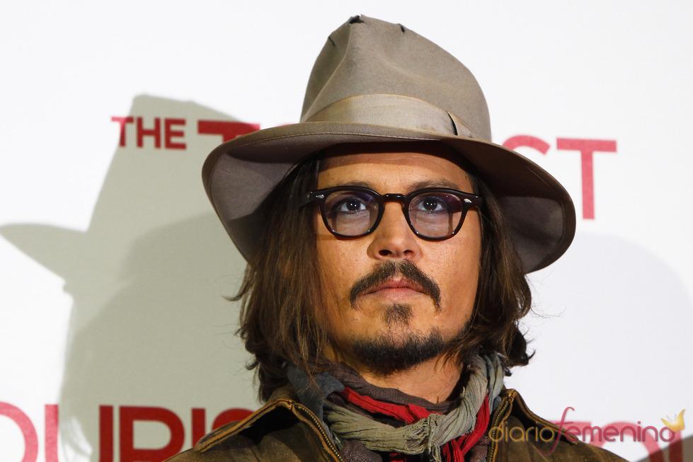 Johnny Depp en la promoción de 'The Tourist'