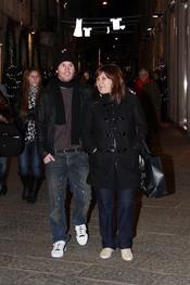 Leo Messi con su madre, de compras navideñas en Milán