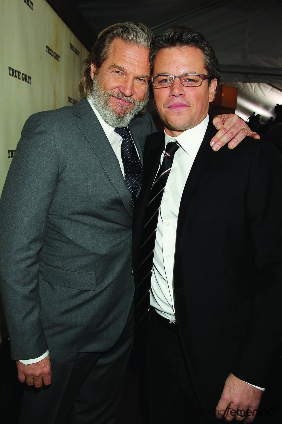 Jeff Bridges y Matt Damon en la presentación de 'True Grit'