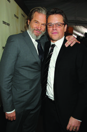 Jeff Bridges y Matt Damon en la presentación de 'True Grit'