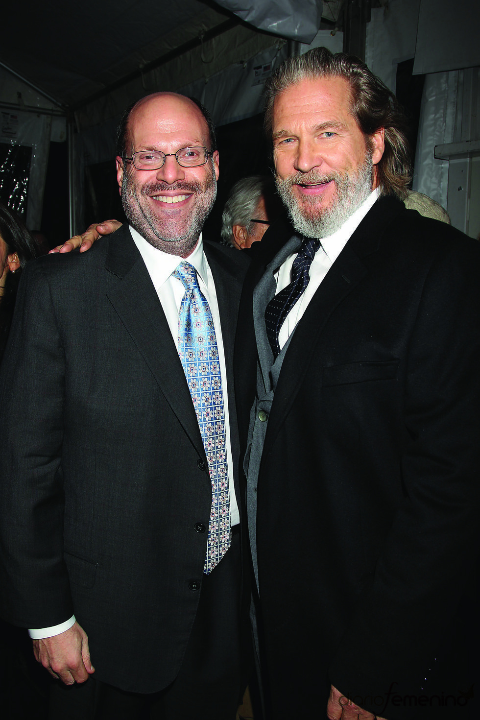 Jeff Bridges y Scott Rudin en la presentación de 'True Grit'