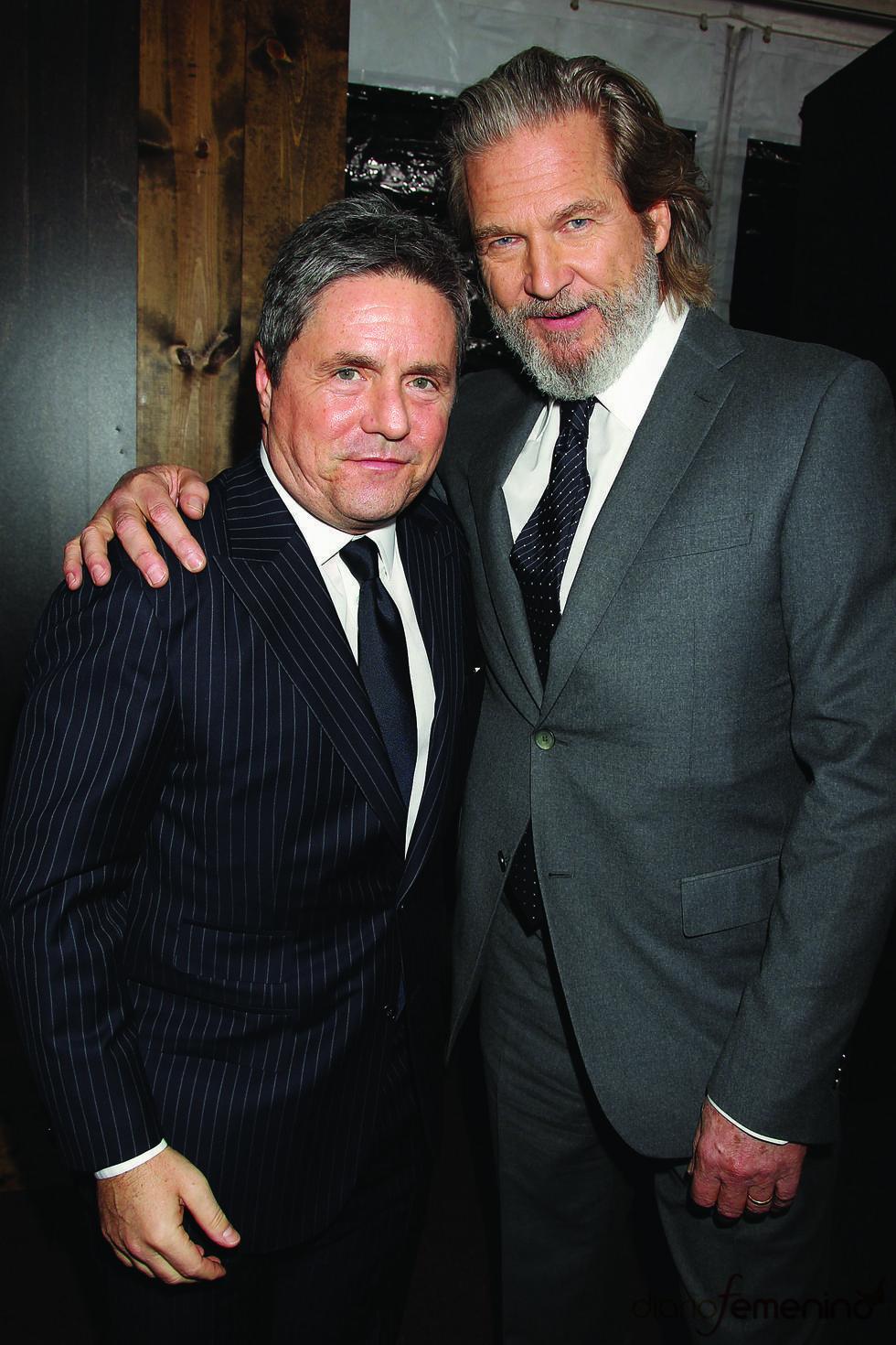 Jeff Bridges y Brad Grey en la premiere de 'True Grit'