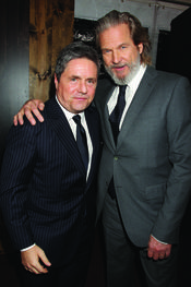 Jeff Bridges y Brad Grey en la premiere de 'True Grit'