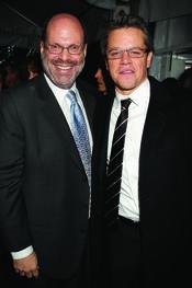 Scott Rudin y Matt Damon en la premiere de 'True Grit' en Nueva York