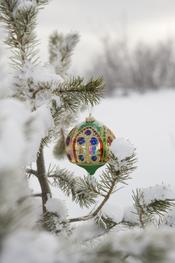 Adrono brillante para el árbol de Navidad