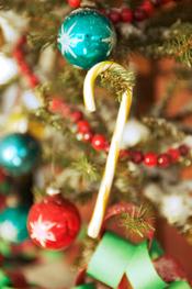 Decoración del árbol de Navidad: bastones