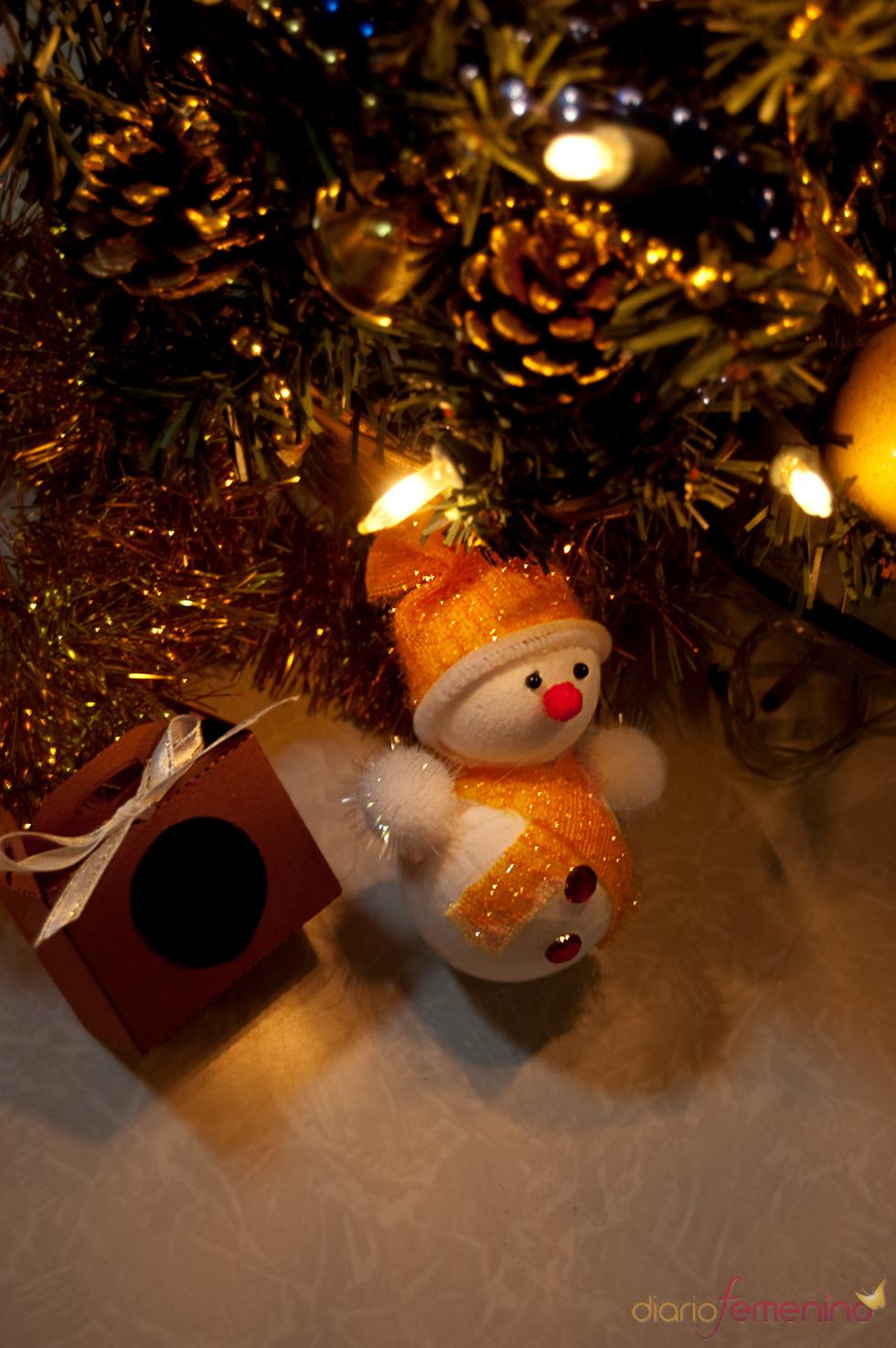 Muñeco de nieve para el árbol de Navidad