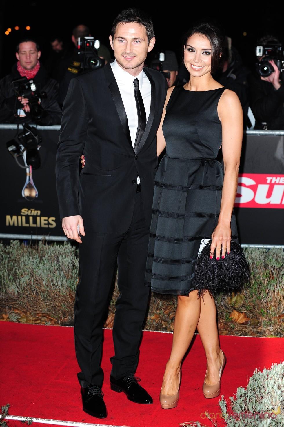 Christine Bleakley y Frank Lampard en los Military Adwards 2010