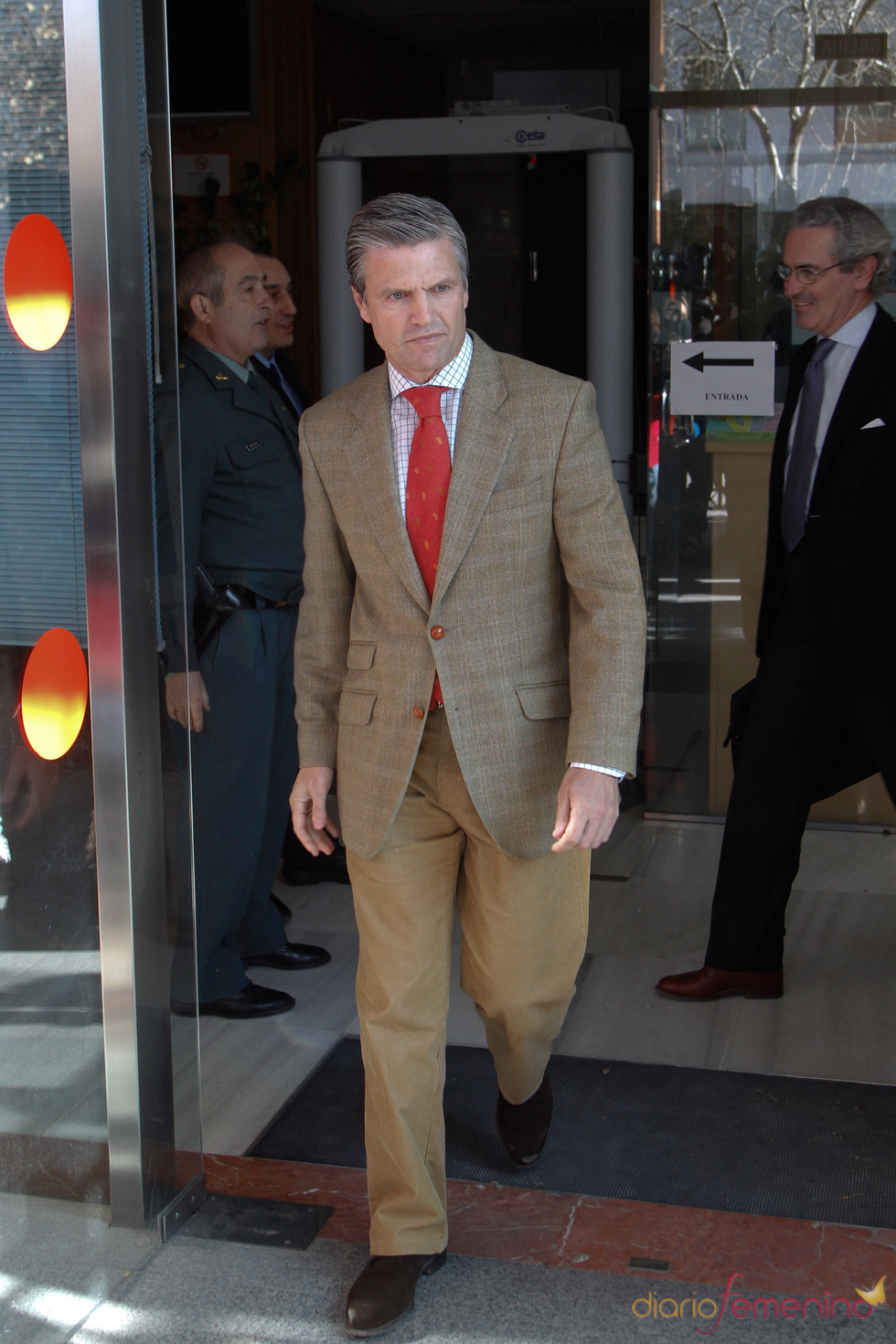Juan Antonio Ruiz Espartaco a la salida de los juzgados de Sevilla