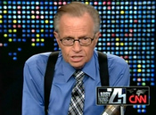 Larry King durante uno de sus programas de 'Larry King Live'