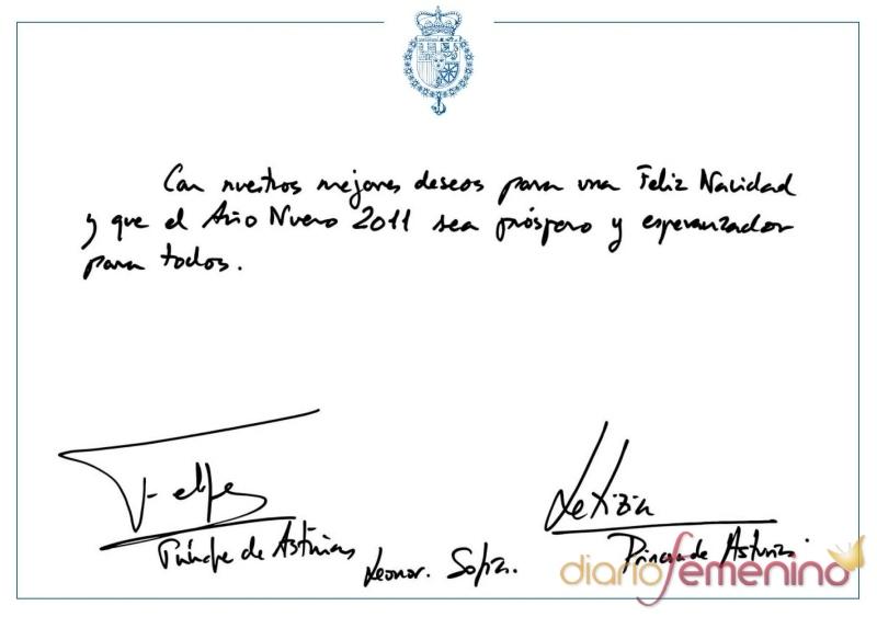 Los Príncipes de Asturias felicitan la Navidad