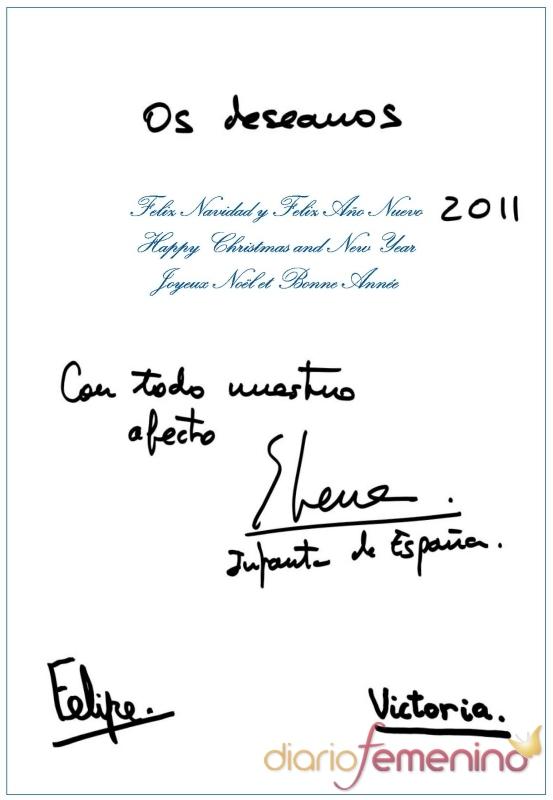 La Infanta Elena felicita la Navidad