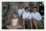 Felicitación navideña de los Duques de Palma y sus hijos