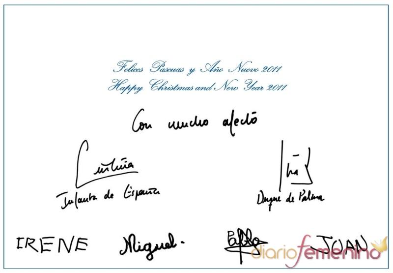 Los Duques de Palma felicitan la Navidad