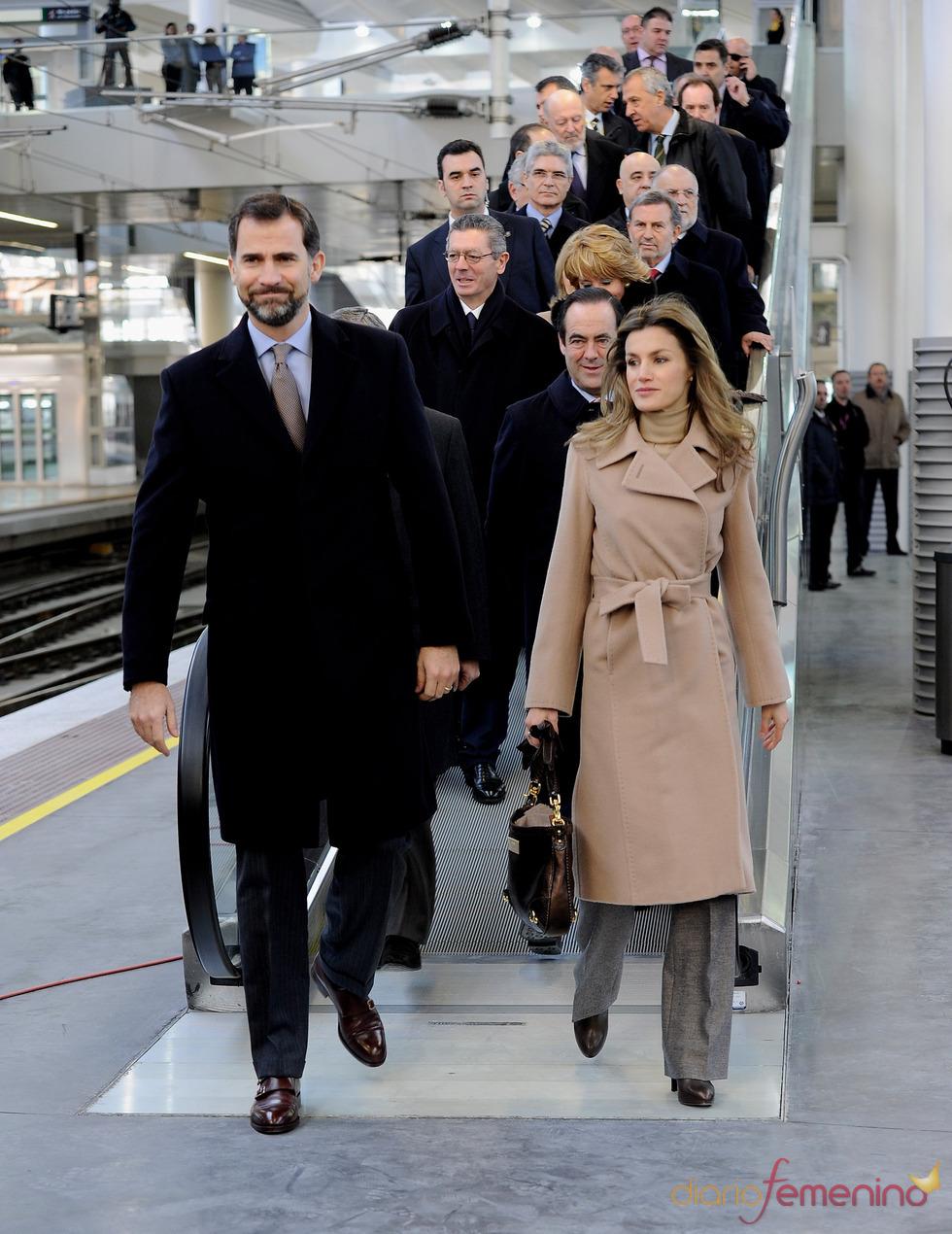 Los Príncipes durante la inauguración del AVE Madrid-Albacete