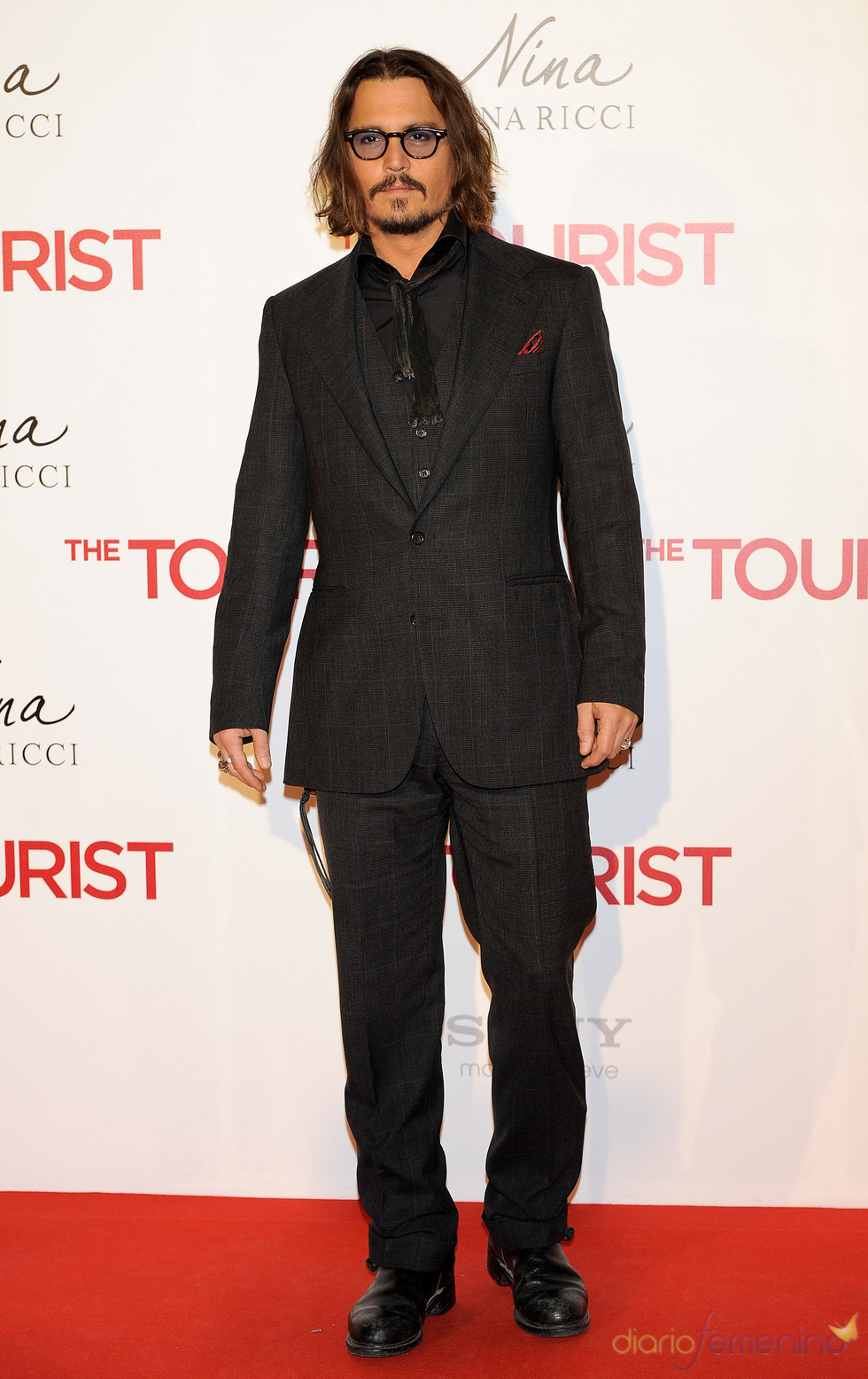 Johnny Depp en la premiere de 'The Tourist' en Madrid