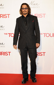 Johnny Depp en la premiere de 'The Tourist' en Madrid