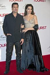 Angelina Jolie y Brad Pitt en Madrid en la premiere de 'The Tourist'