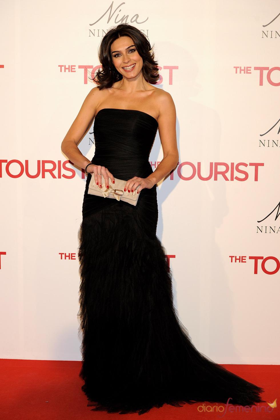 Marta Fernández en la premiere en Madrid de 'The Tourist'