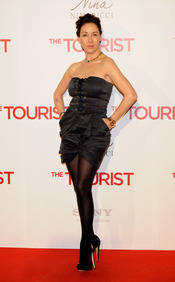 Adriana Lavat en la premiere de 'The Tourist' en Madrid