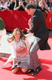 La mujer de Pepín Liria se cayó en la boda de José María Manzanares