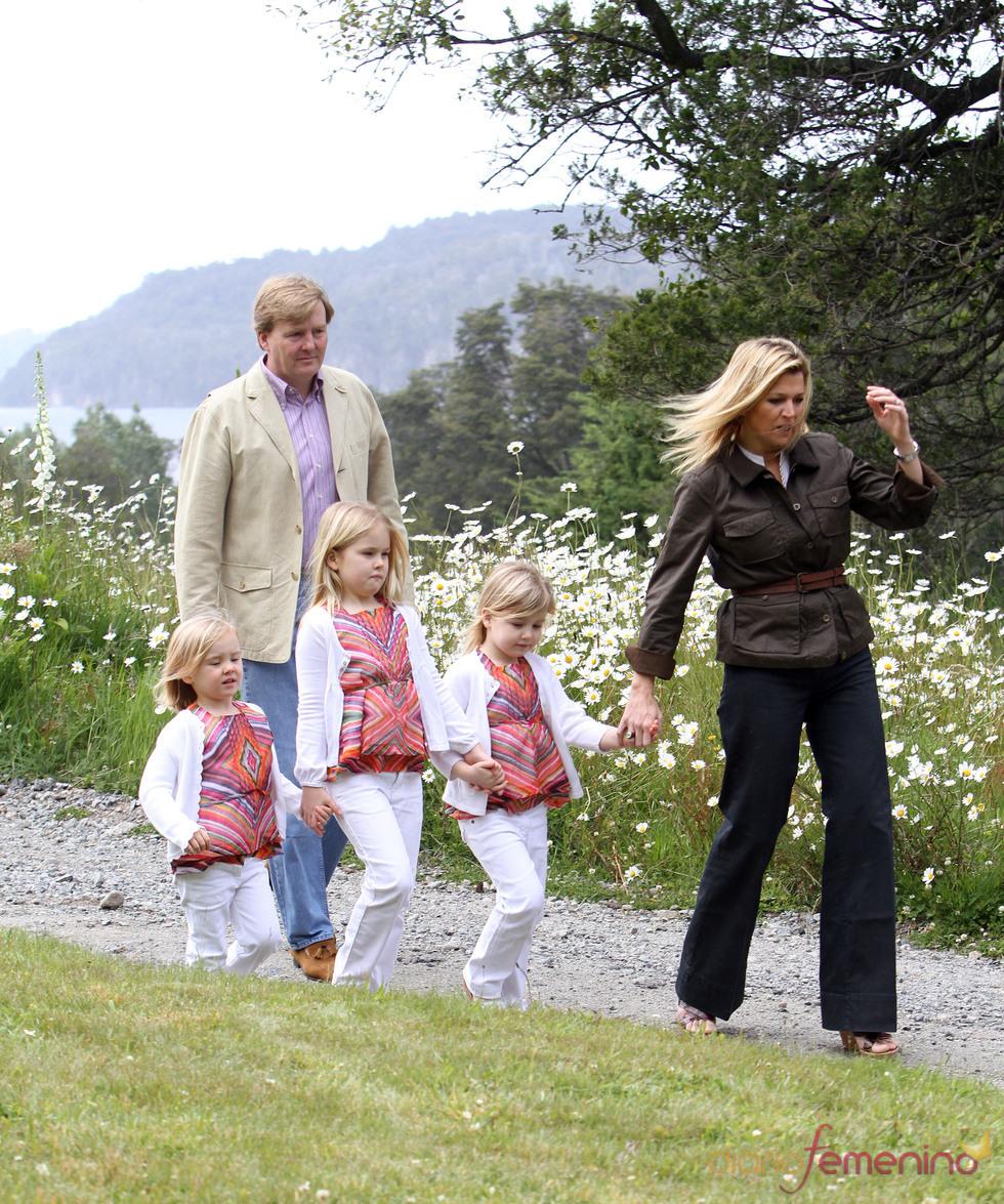 Máxima y Guillermo de Holanda, con sus hijas en Navidad